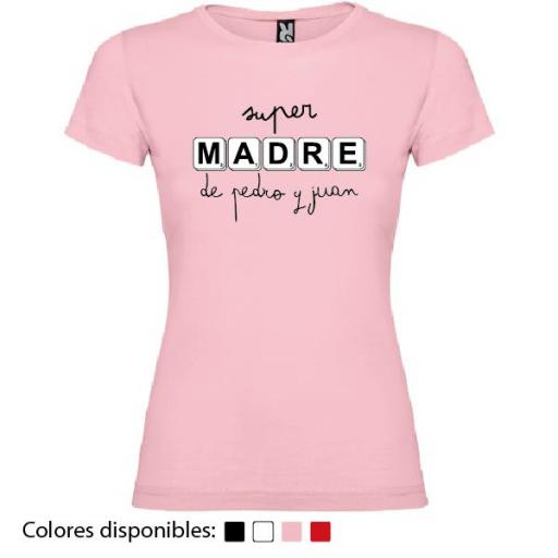 Camiseta Personalizada Super Madre De...