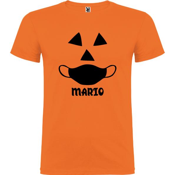 Camiseta Calabaza con Mascarilla(Unisex)