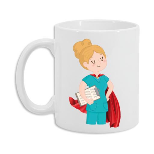 Taza Enfermera Superhéroe [2]