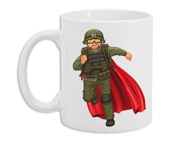 Taza Militar Superhéroe