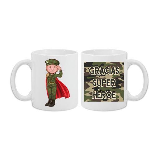 Taza Militar Superhéroe Mujer [2]
