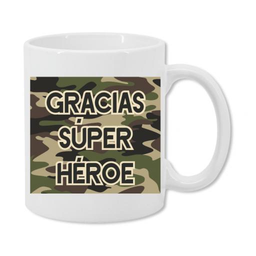Taza Militar Superhéroe Mujer [1]