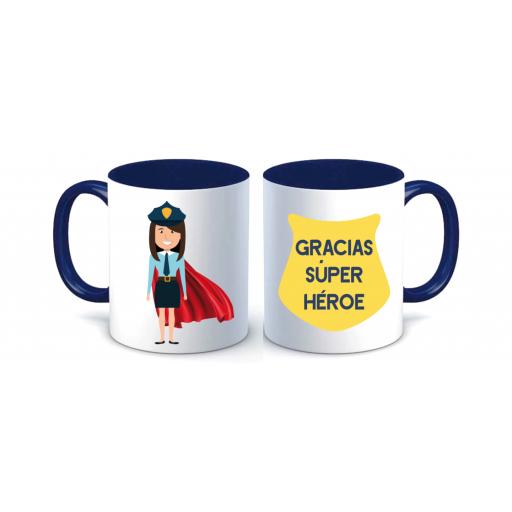 Taza Policía Superhéroe Mujer [2]