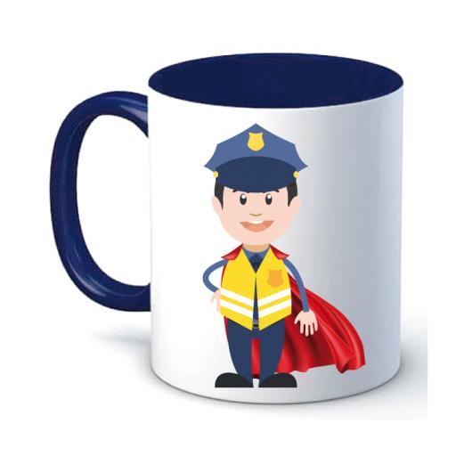 Taza Policía Chaleco Superhéroe