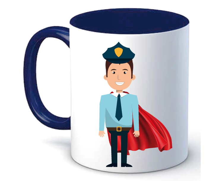 Taza Policía Superhéroe