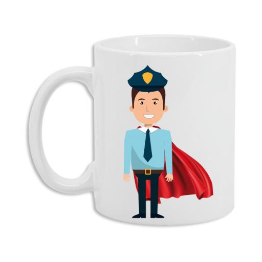 Taza Policía Superhéroe [2]