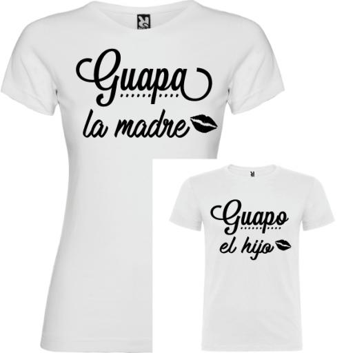 2 Camisetas Guapa la Madre, Guapo la Hijo [1]