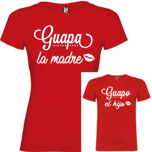 2 Camisetas Guapa la Madre, Guapo la Hijo [2]