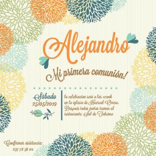 Pack 12 Invitaciones Primera Comunión Niño + sobre modelo 1002