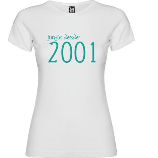 Camiseta Básica Juntos Desde [2]