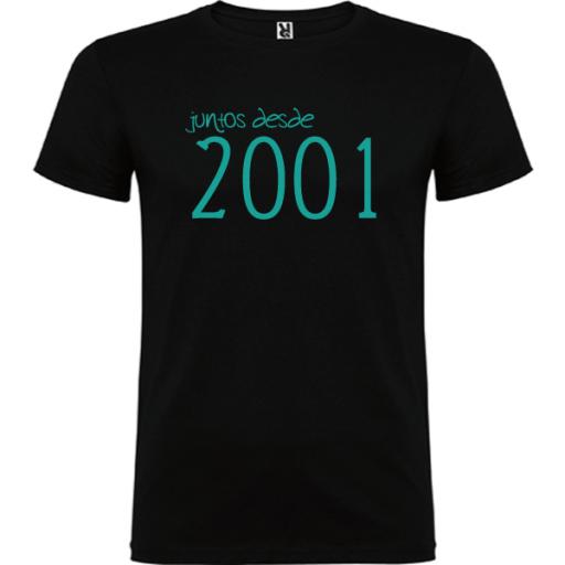 Camiseta Básica Juntos Desde [1]