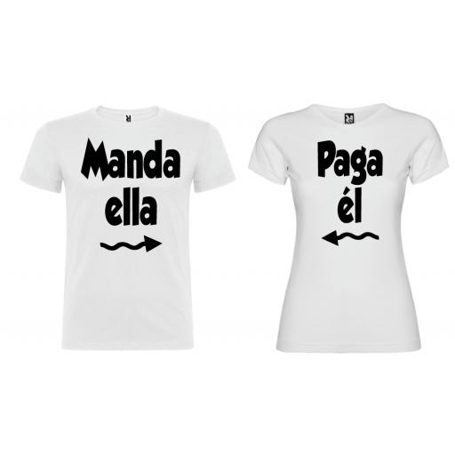 2 Camisetas Manda y Paga BL