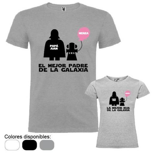 2 Camisetas Star Wars (Padre e Hija)