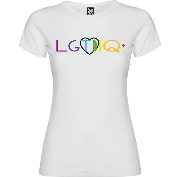 Camiseta Orgullo LGTBIQ+ -Mujer- Elige tus iniciales