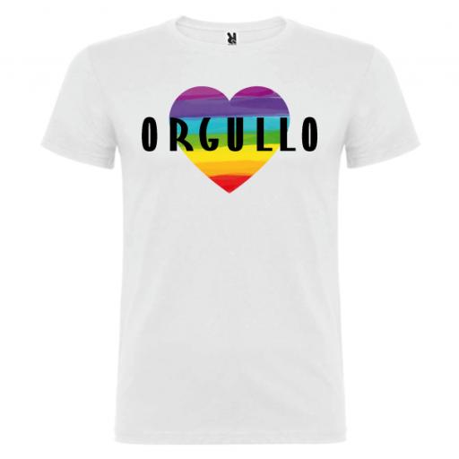 Camiseta Corazón Orgullo Gay -Hombre-