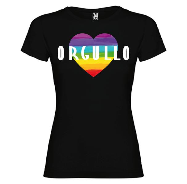 Camiseta Corazón Orgullo Gay -Mujer-