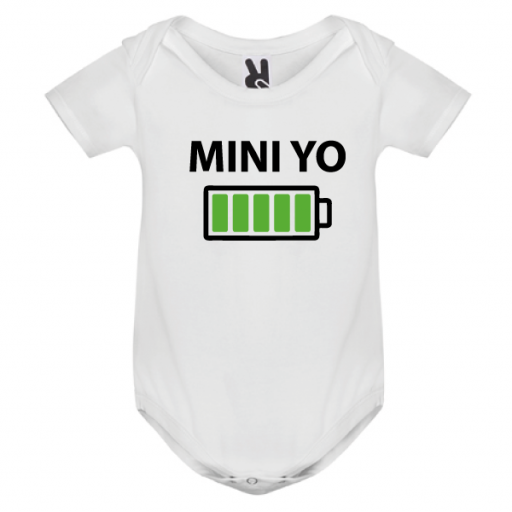 1 camiseta con body Yo y Mini yo (negro) [2]