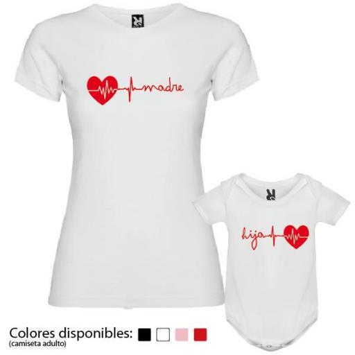 Camiseta Madre + Body Corazón [2]