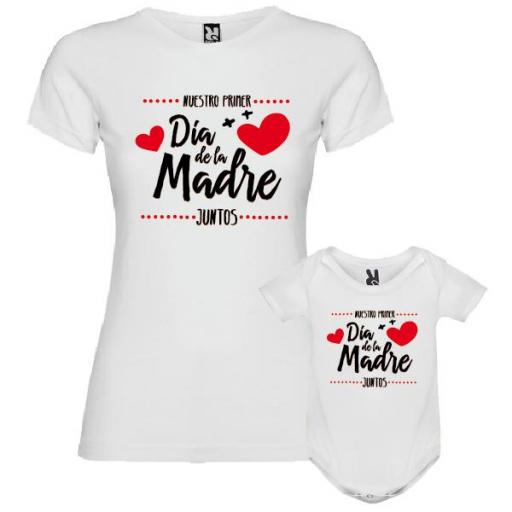 Camiseta Madre + Body Nuestro Primer Día de la Madre