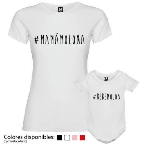 Camiseta Madre + Body #mamámolona #bebémolón [3]