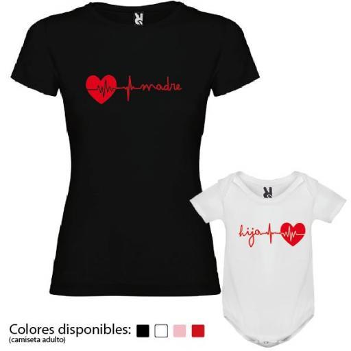 Camiseta Madre + Body Corazón [3]