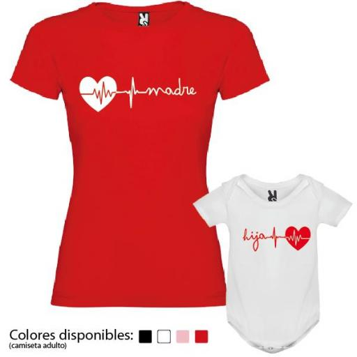 Camiseta Madre + Body Corazón