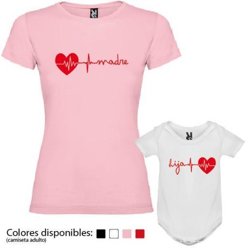 Camiseta Madre + Body Corazón [1]