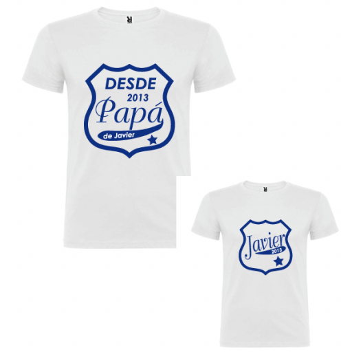 2 Camisetas Papa desde