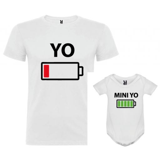 1 camiseta con body Yo y Mini yo