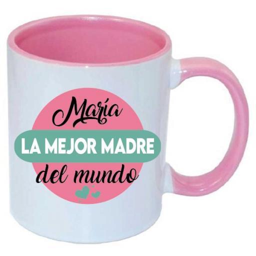Taza Personalizada La Mejor Madre del Mundo