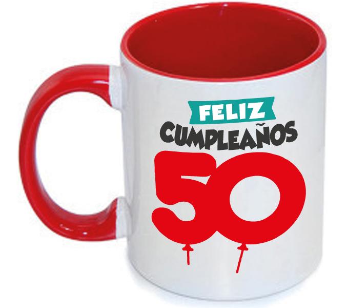 Taza Feliz 50 Cumpleaños