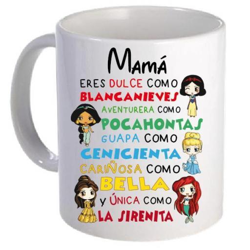 Taza Princesas Disney Mamá