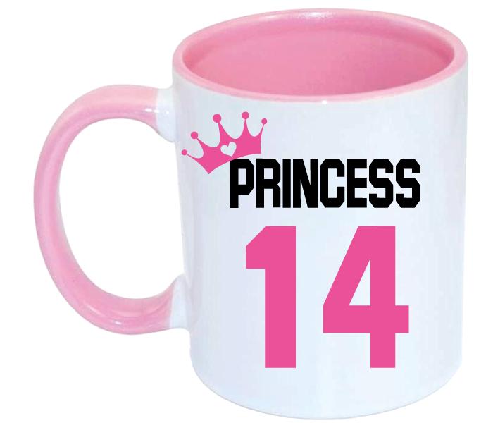 Taza Princess bicolor rosa