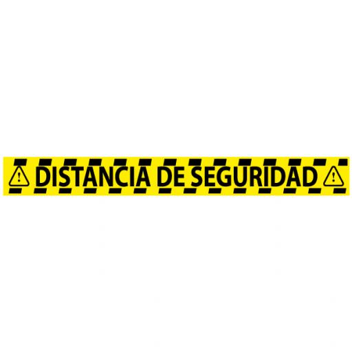 Vinilo para Distancia de Seguridad Amarillo