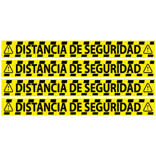 Vinilo para Distancia de Seguridad Amarillo [1]