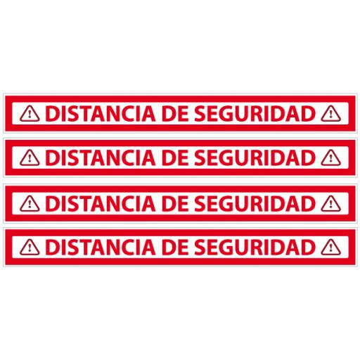 Vinilo para Distancia de Seguridad Rojo [1]