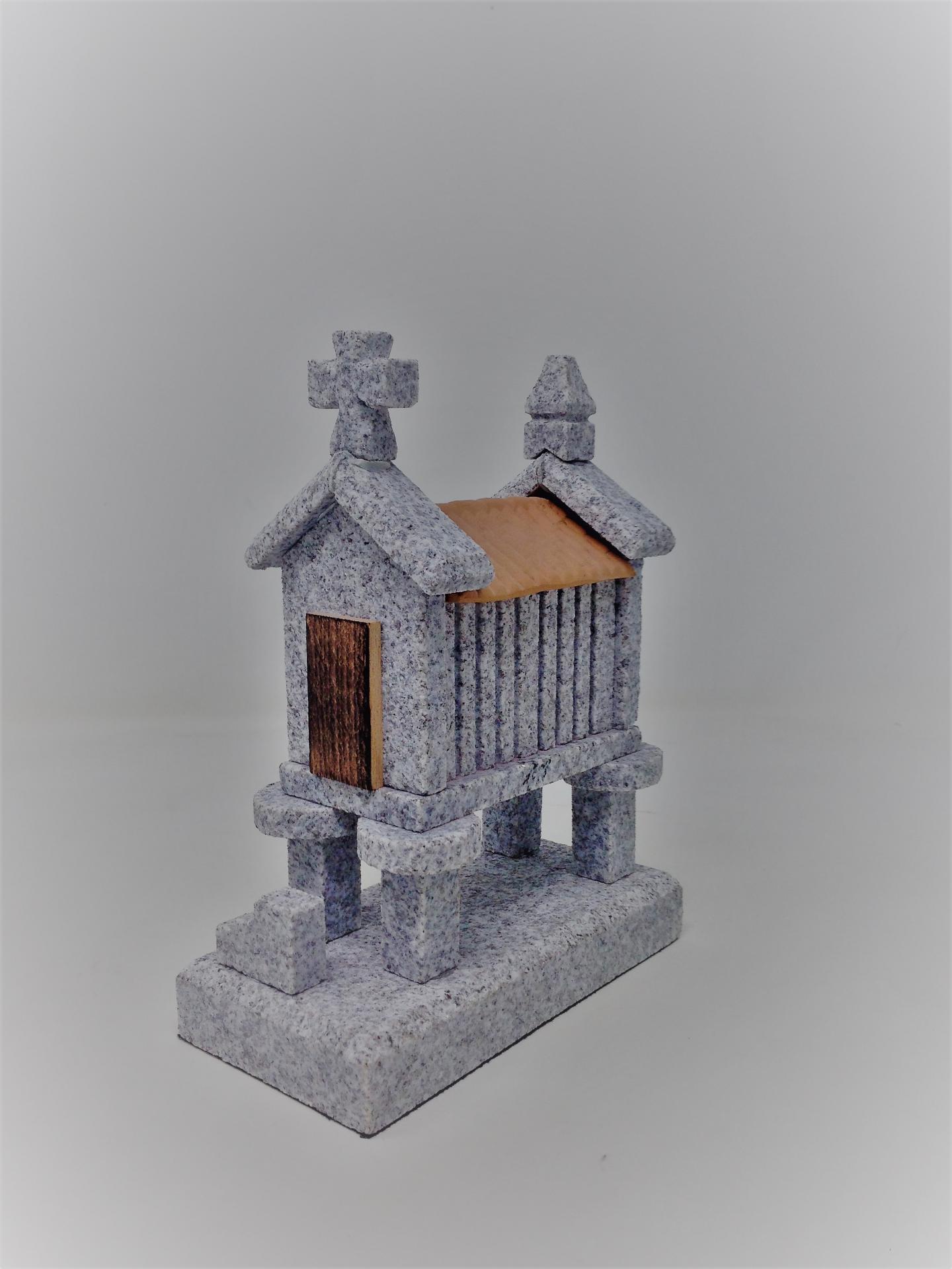 Hórreo de granito pequeño (4 pies)