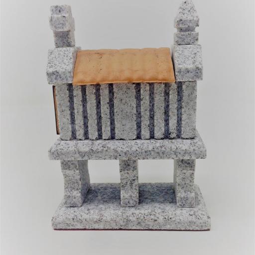 Hórreo de granito miniatura (3 pies)  [1]