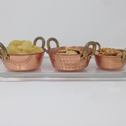 Juego de cazos de cobre  [2]
