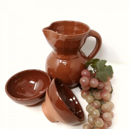 Juego de vino en barro  [2]