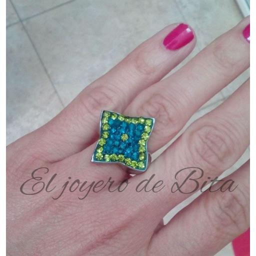 Anillo Emerald Star