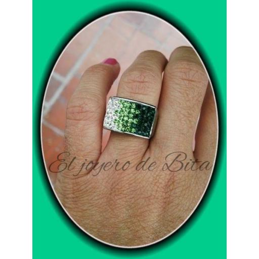 Anillo Banda Verde