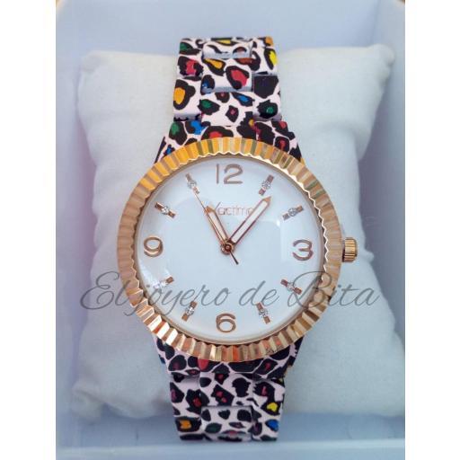 Reloj Animal Print Multicolor