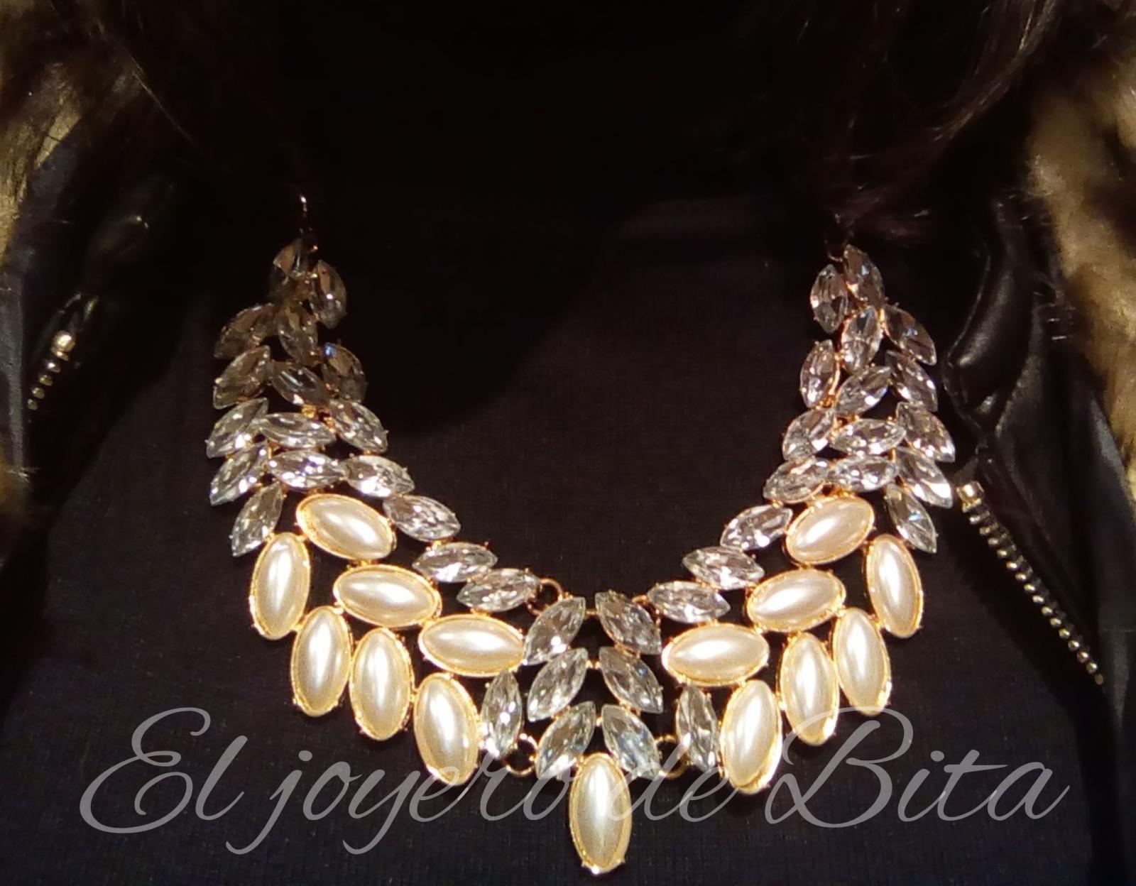 Collar pearl&crystal
