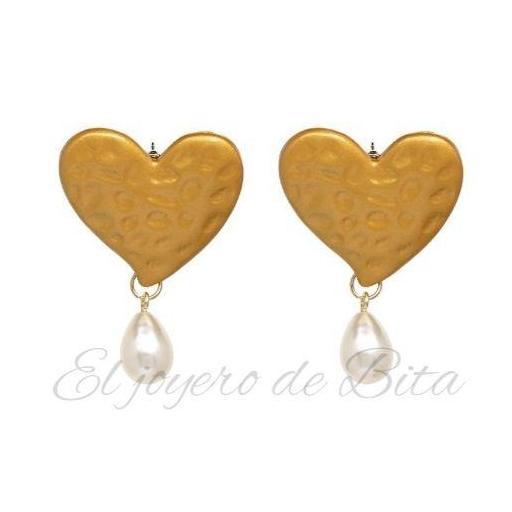 Pendientes Golden Heart