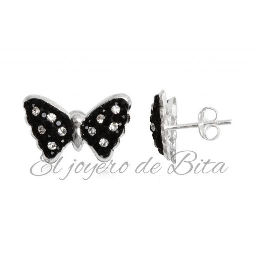 Pendientes Black Butterfly