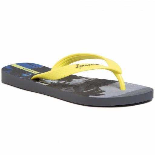 Chanclas Ipanema Classic VIII Kids. 82777. Grey/neon yellow. 25039 [0]