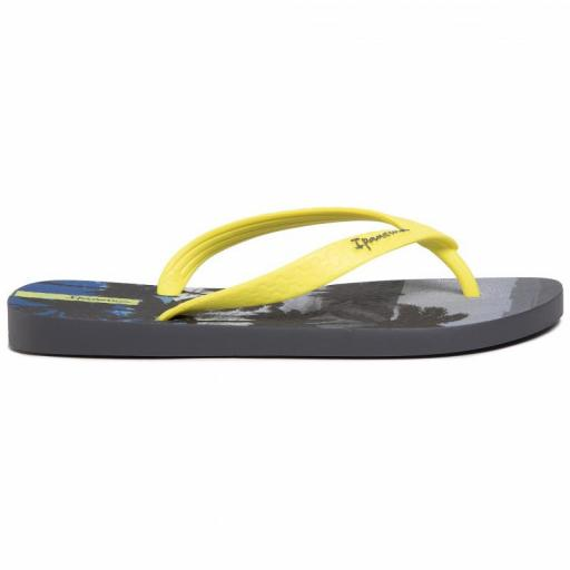 Chanclas Ipanema Classic VIII Kids. 82777. Grey/neon yellow. 25039 [1]