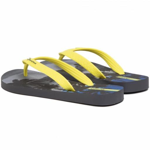 Chanclas Ipanema Classic VIII Kids. 82777. Grey/neon yellow. 25039 [3]
