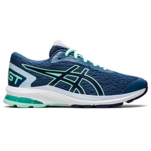 Asics GT-1000 9 GS. Zapatillas running. 1014A150. Grand shark/peacoat.
